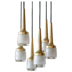 Six-Light Hanging Fixture by Staff of Germany, 1970