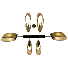 Six Lighted Arms 1950s Par Maison Lunel