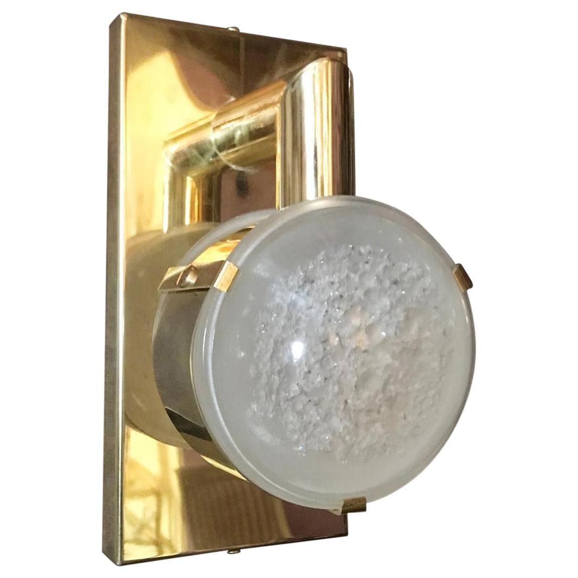Four Limited Edition Sconces w/ Double Frosted Murano Glass, Circa 1990's.