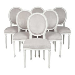 Six Louis XVI Dining Chairs