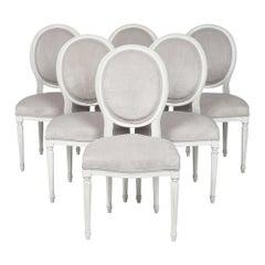 Six Louis XVI Dining Chairs