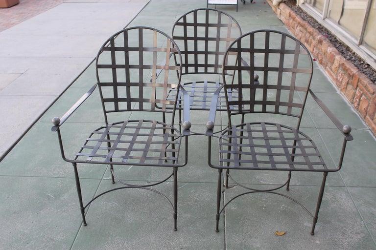 Six Mario Papperzini for John Salterini Patio Chairs For Sale 3