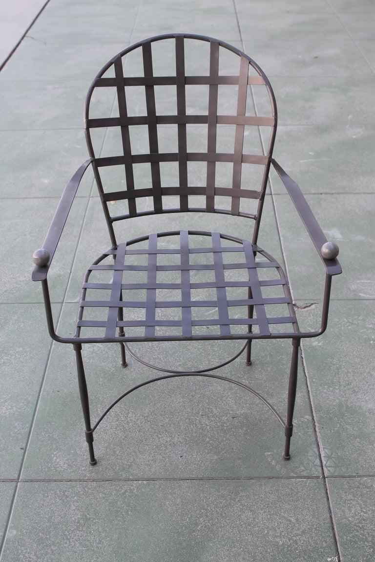 Mid-Century Modern Six Mario Papperzini for John Salterini Patio Chairs For Sale