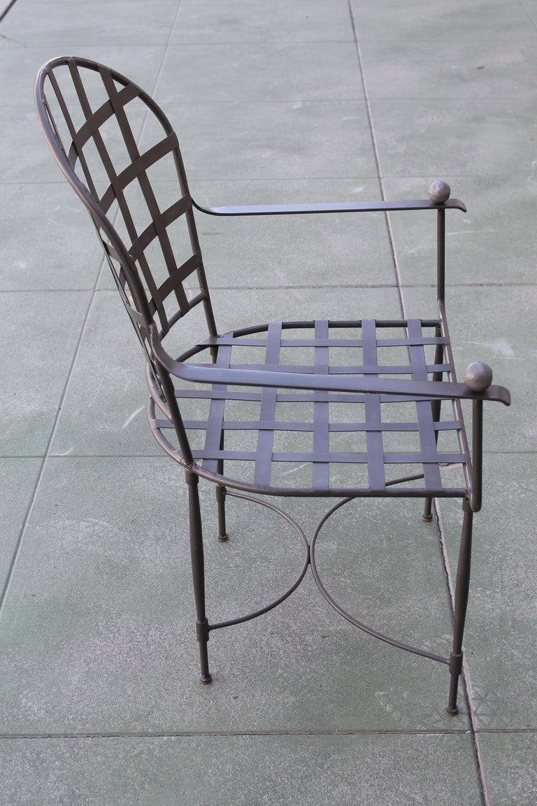 Six Mario Papperzini for John Salterini Patio Chairs In Good Condition For Sale In Palm Springs, CA