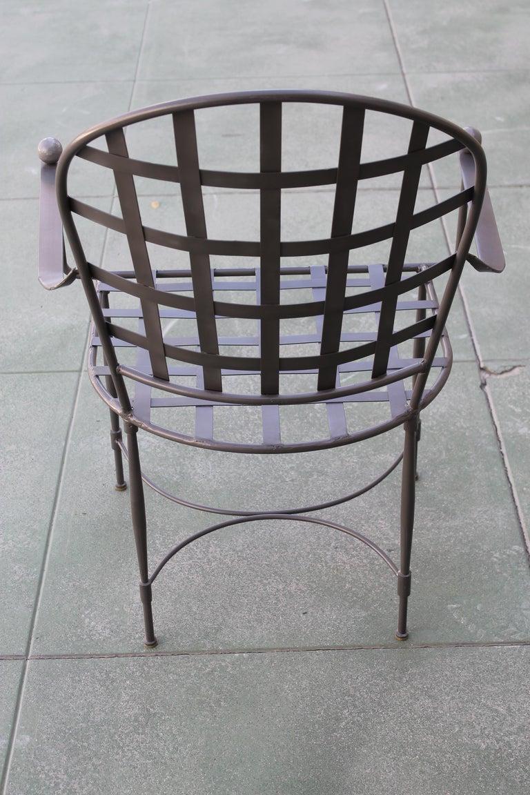 Mid-20th Century Six Mario Papperzini for John Salterini Patio Chairs For Sale