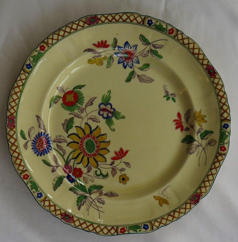 Six Mason's Ironstone Large Dinner Plates Art Nouveau Muscatel Pattern For Sale 4