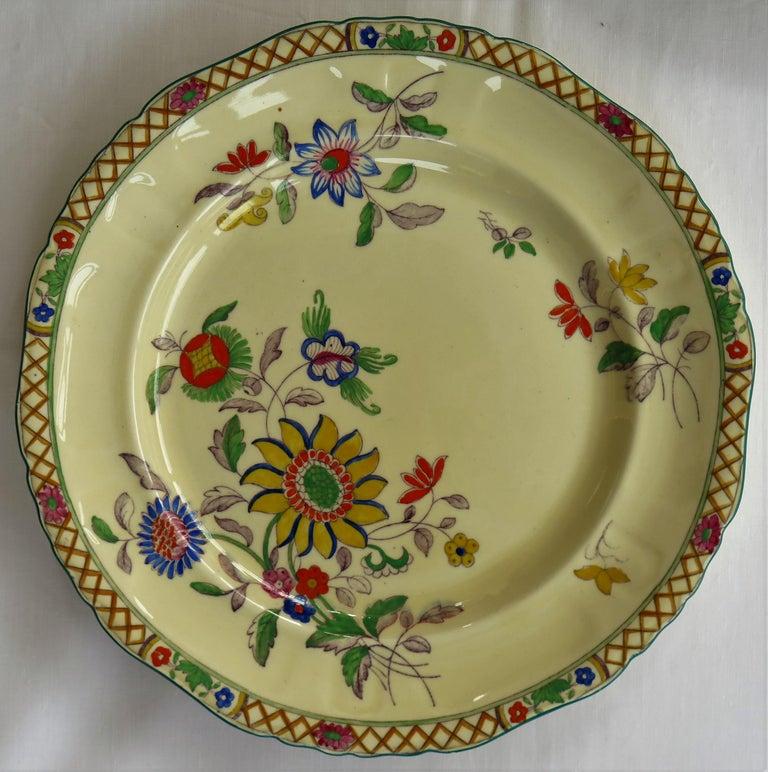 Six Mason's Ironstone Large Dinner Plates Art Nouveau Muscatel Pattern For Sale 7