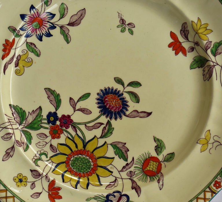 This is a lovely set of six large dinner plates by Mason's Ironstone, England in the Art Nouveau style