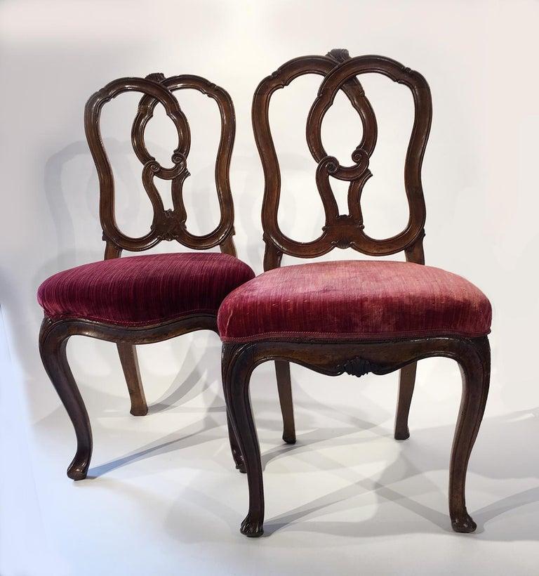 Six Mid-18th Century Italian Chairs, Venice, circa 1750 For Sale 8