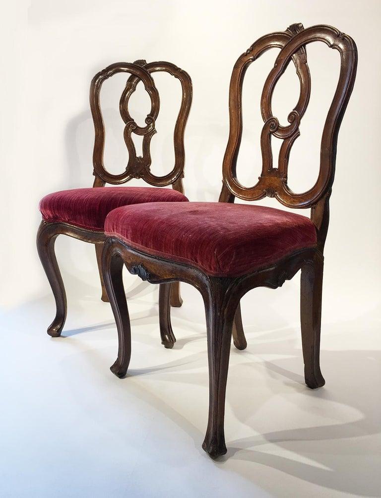 Six Mid-18th Century Italian Chairs, Venice, circa 1750 For Sale 9