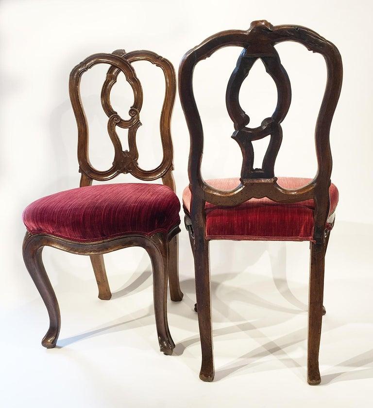 Six Mid-18th Century Italian Chairs, Venice, circa 1750 For Sale 10