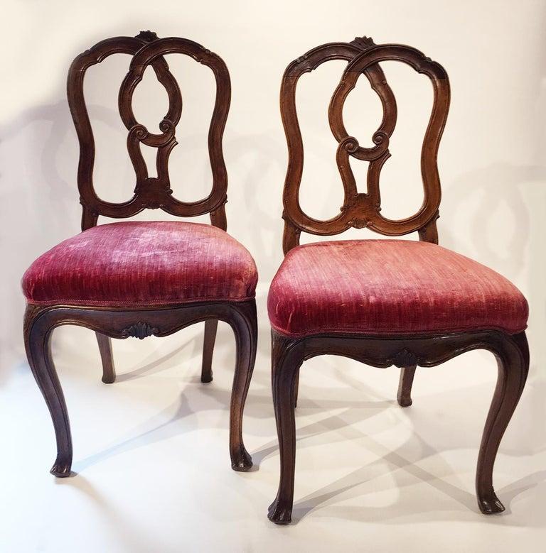 Six Mid-18th Century Italian Chairs, Venice, circa 1750 For Sale 11