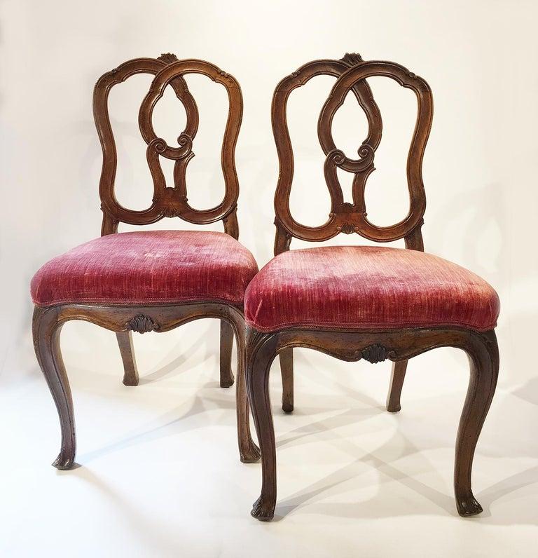 Six Mid-18th Century Italian Chairs, Venice, circa 1750 For Sale 12
