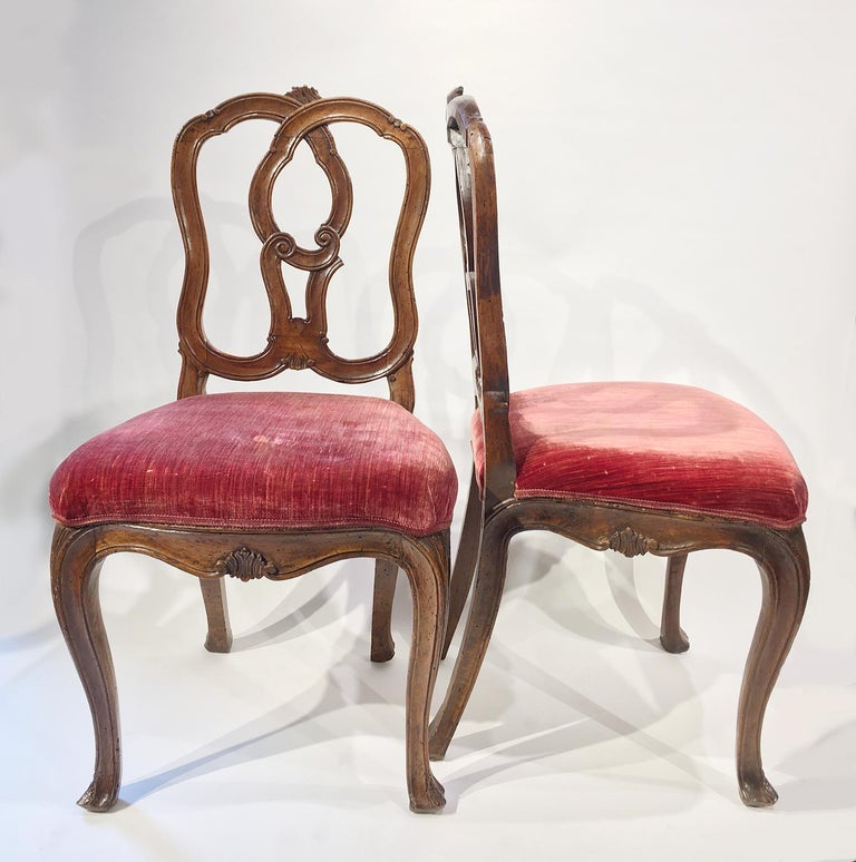 Six Mid-18th Century Italian Chairs, Venice, circa 1750 For Sale 13