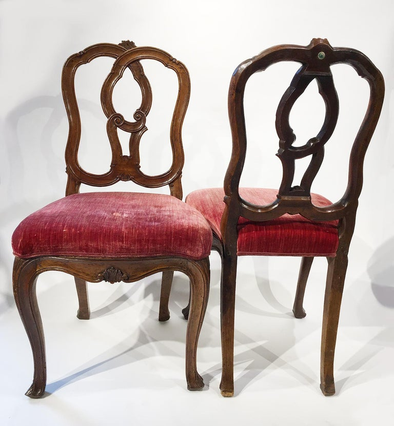 Six Mid-18th Century Italian Chairs, Venice, circa 1750 For Sale 14
