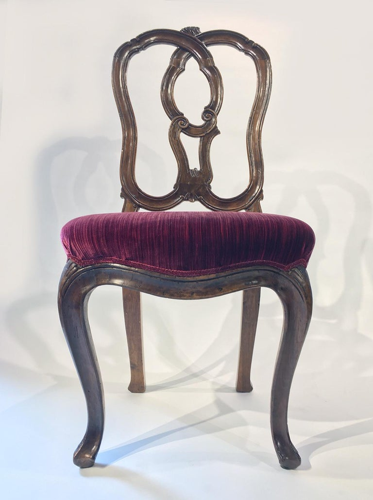 Six Mid-18th Century Italian Chairs, Venice, circa 1750 For Sale 2