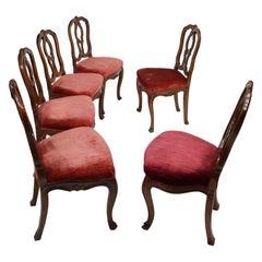 Six Mid-18th Century Italian Chairs, Venice, circa 1750