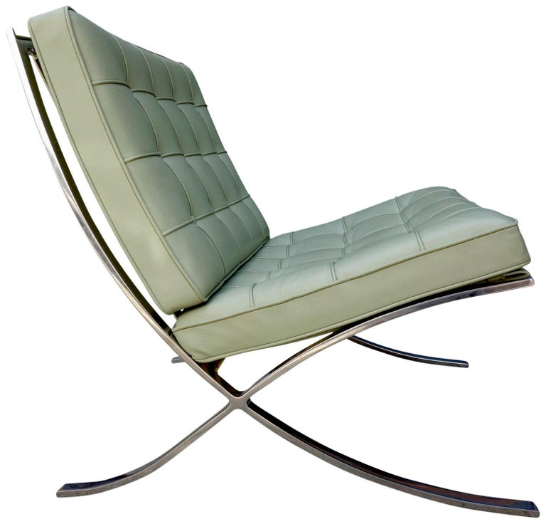 Strange Six Midcentury Barcelona Chairs In Stainless Steel And Evergreenethics Interior Chair Design Evergreenethicsorg