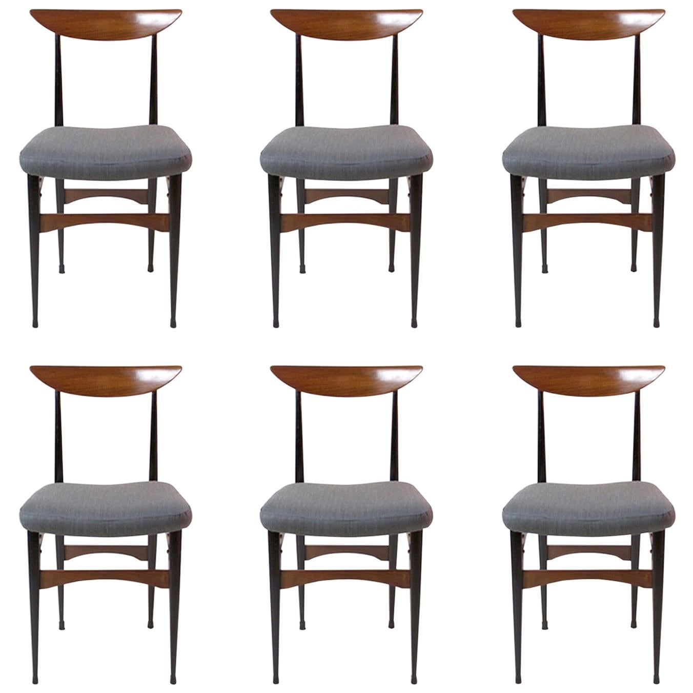 Six Mid-Century Italian Dining Chairs