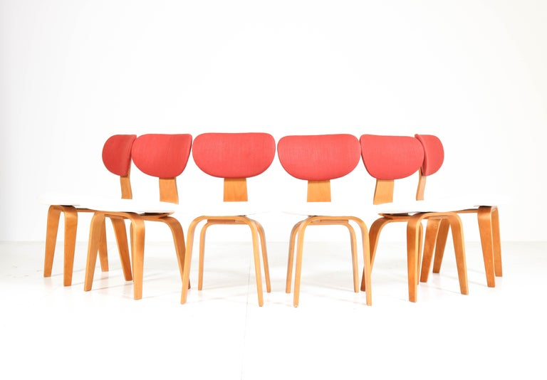 Dutch Six Mid-Century Modern Combex Series SB02 Chairs by Cees Braakman for UMS Pastoe