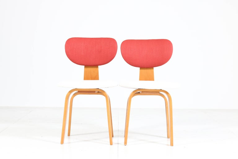 Six Mid-Century Modern Combex Series SB02 Chairs by Cees Braakman for UMS Pastoe In Good Condition In Amsterdam, NL