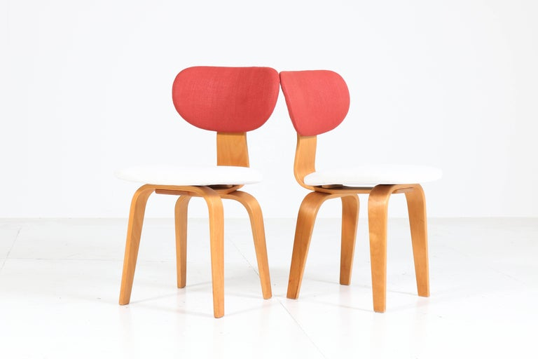 Fabric Six Mid-Century Modern Combex Series SB02 Chairs by Cees Braakman for UMS Pastoe
