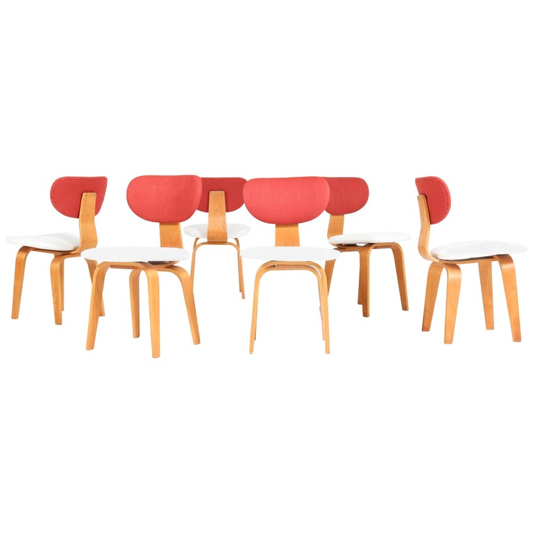 Six Mid-Century Modern Combex Series SB02 Chairs by Cees Braakman for UMS Pastoe