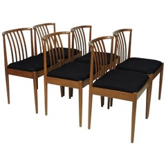 Six Mid-Century Modern German Dining Chairs Casala Modell Danish Style