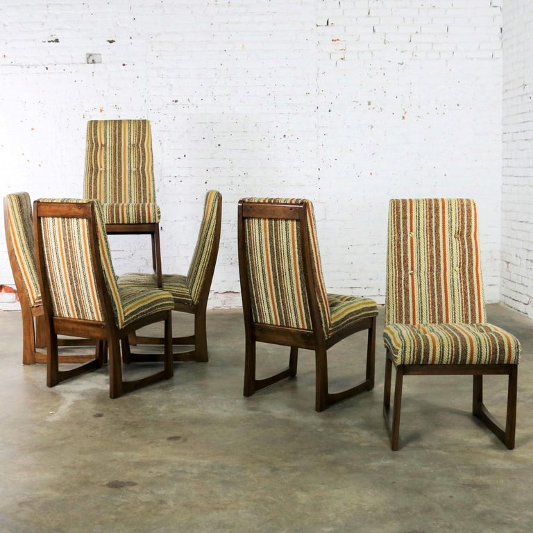 Six Mid Century Modern Lane Alta Vista Dining Chairs