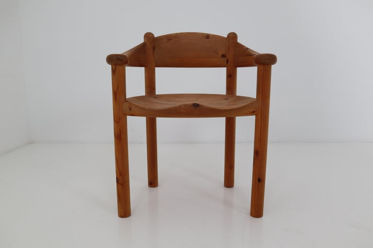 Six Midcentury Dining Room Chairs in Pinewood by Rainer Daumiller, 1970s For Sale 10