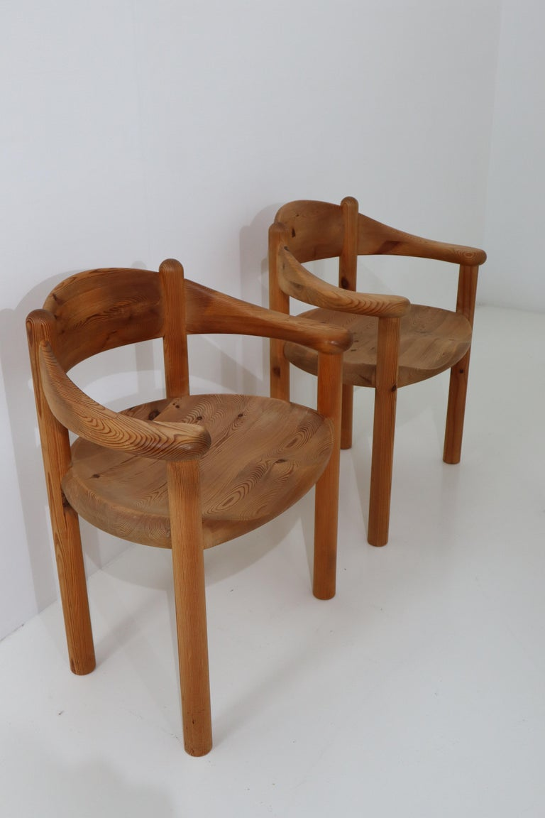 20th Century Six Midcentury Dining Room Chairs in Pinewood by Rainer Daumiller, 1970s For Sale