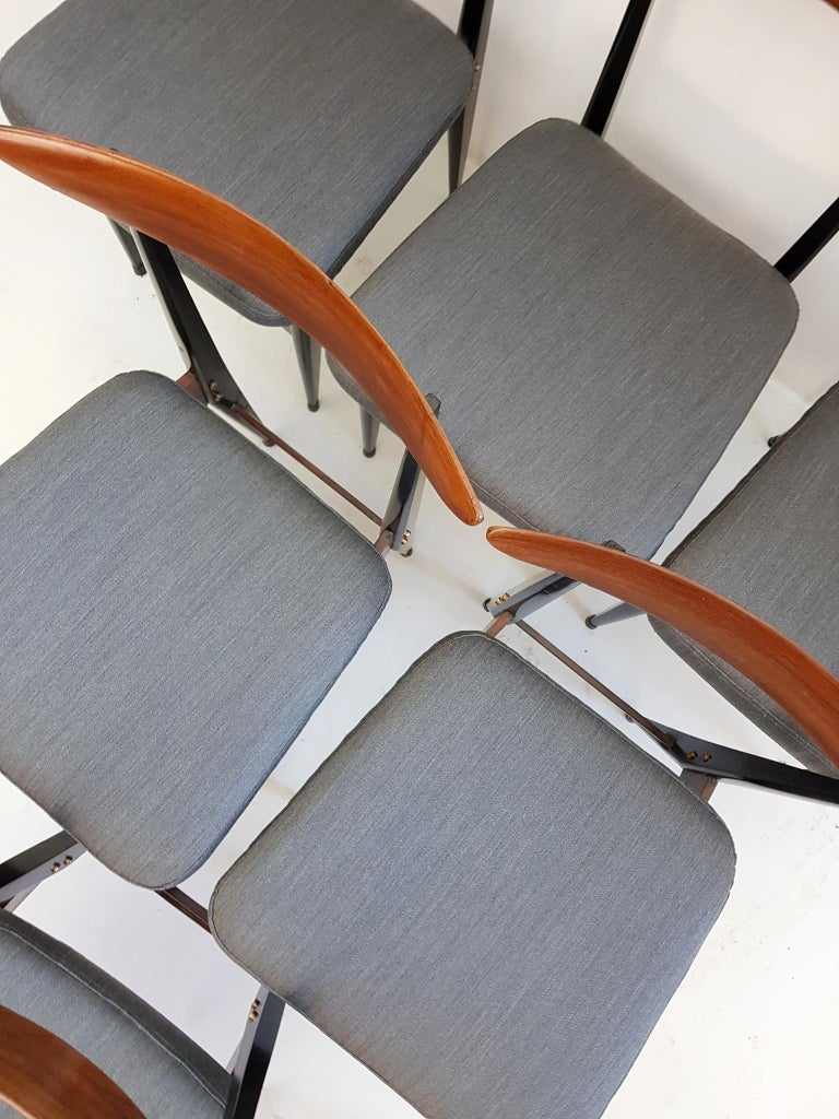 Six Midcentury Italian Dining Chairs 4