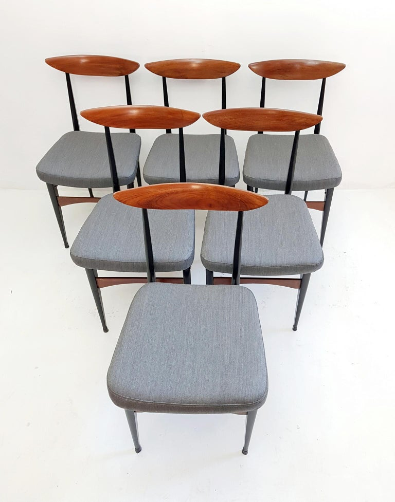 Six Midcentury Italian Dining Chairs 5