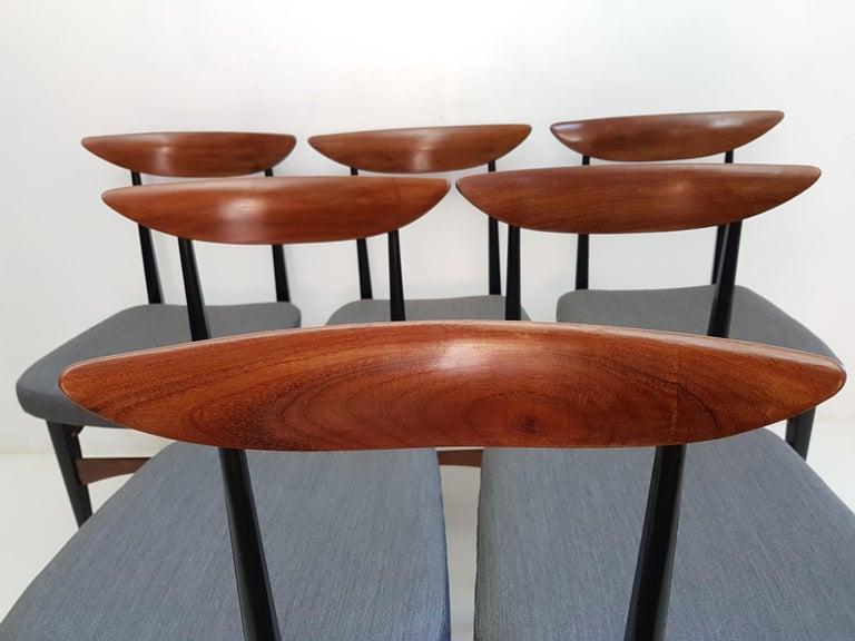 Six Midcentury Italian Dining Chairs 6