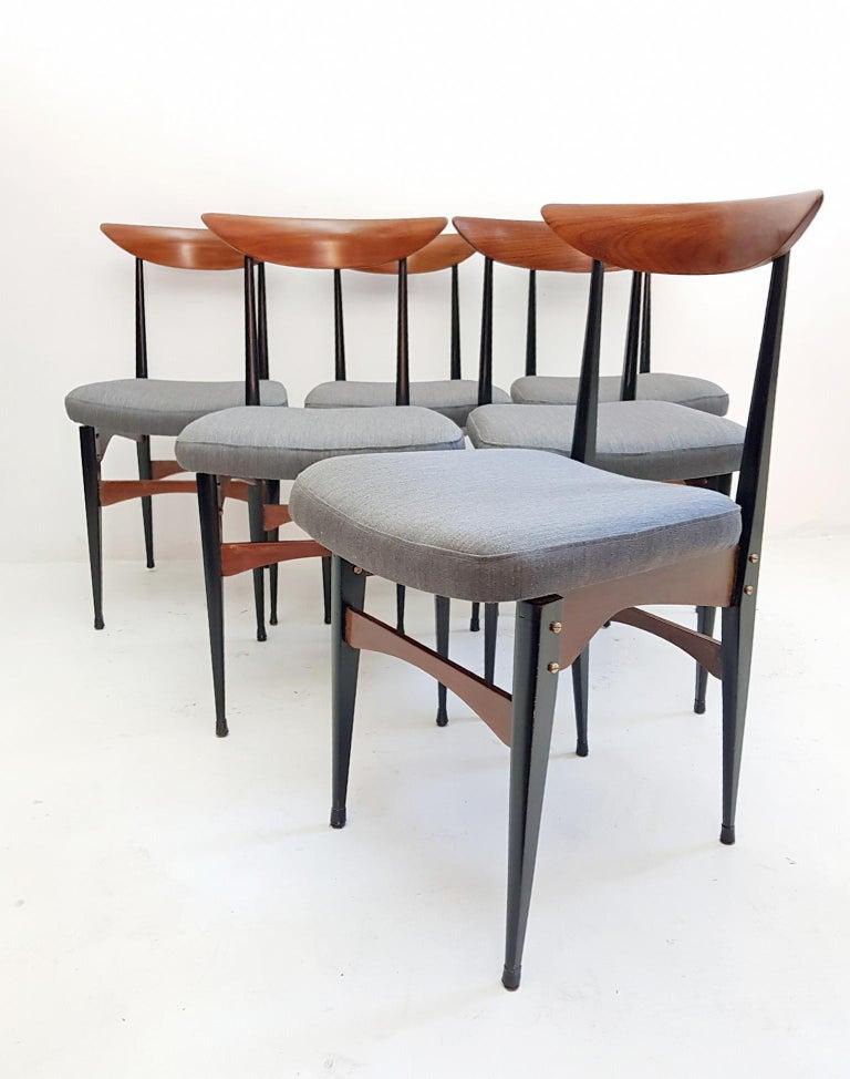 Mid-Century Modern Six Midcentury Italian Dining Chairs