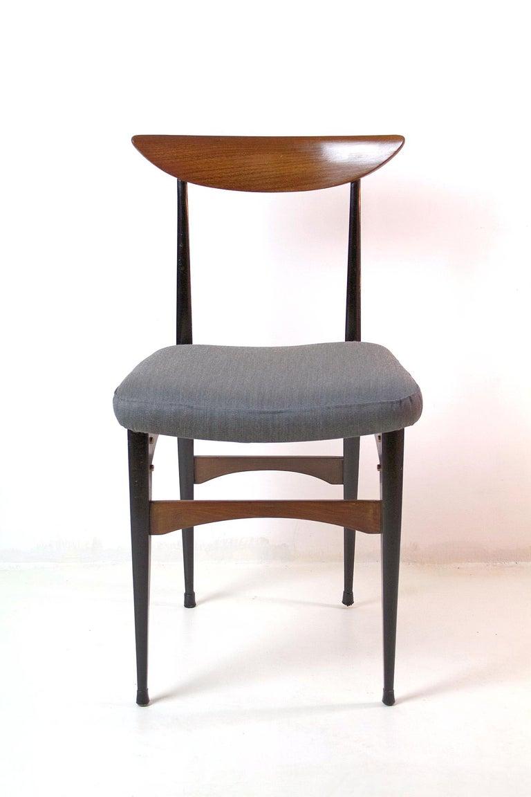 20th Century Six Midcentury Italian Dining Chairs