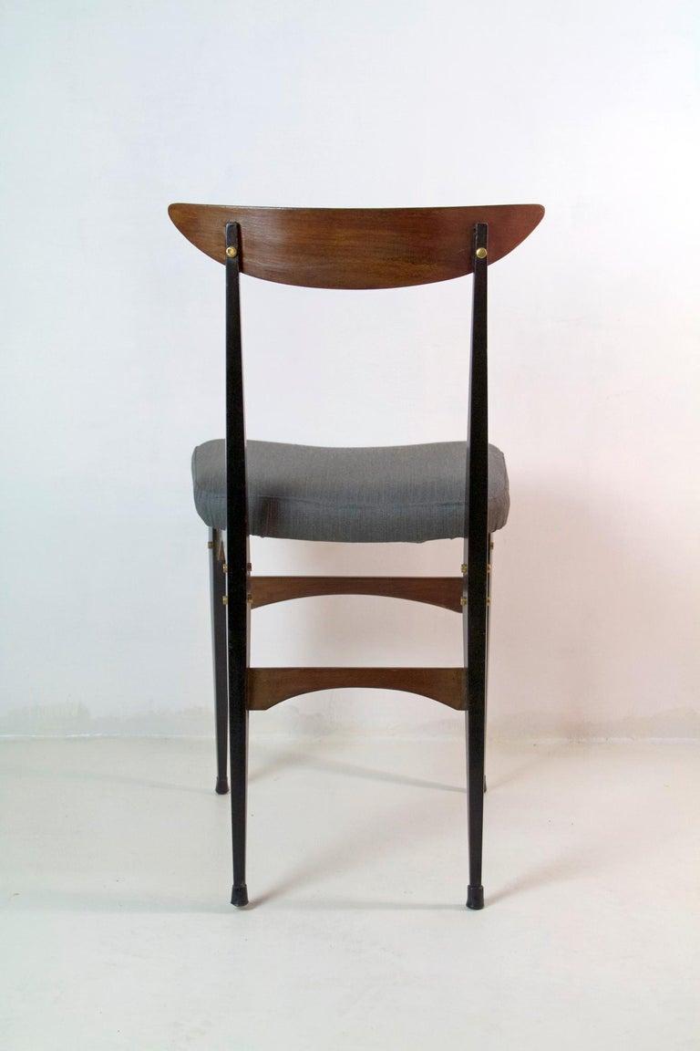 Six Midcentury Italian Dining Chairs 2