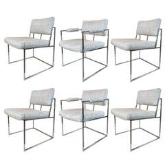 Six Milo Baughman Chairs for Thayer Coggin