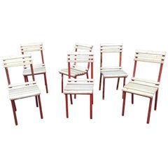 Six Modernist Art Deco Chairs in the Style of  Robert Mallet Stevens