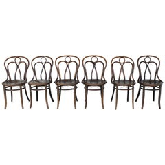 Six Mundus and J J Kohn Ltd Bentwood Chairs, Made in Czecho-Slovakia