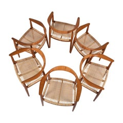 Six Oak JH501 Armchairs Hans Wegner for Johannes Hansen