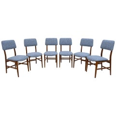 Six of Edmondo Palutari for Dassi Mid-Century Italian Teak Dining Chairs, 1950s