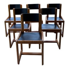 Six of Mid Century Andre Sornay Chairs