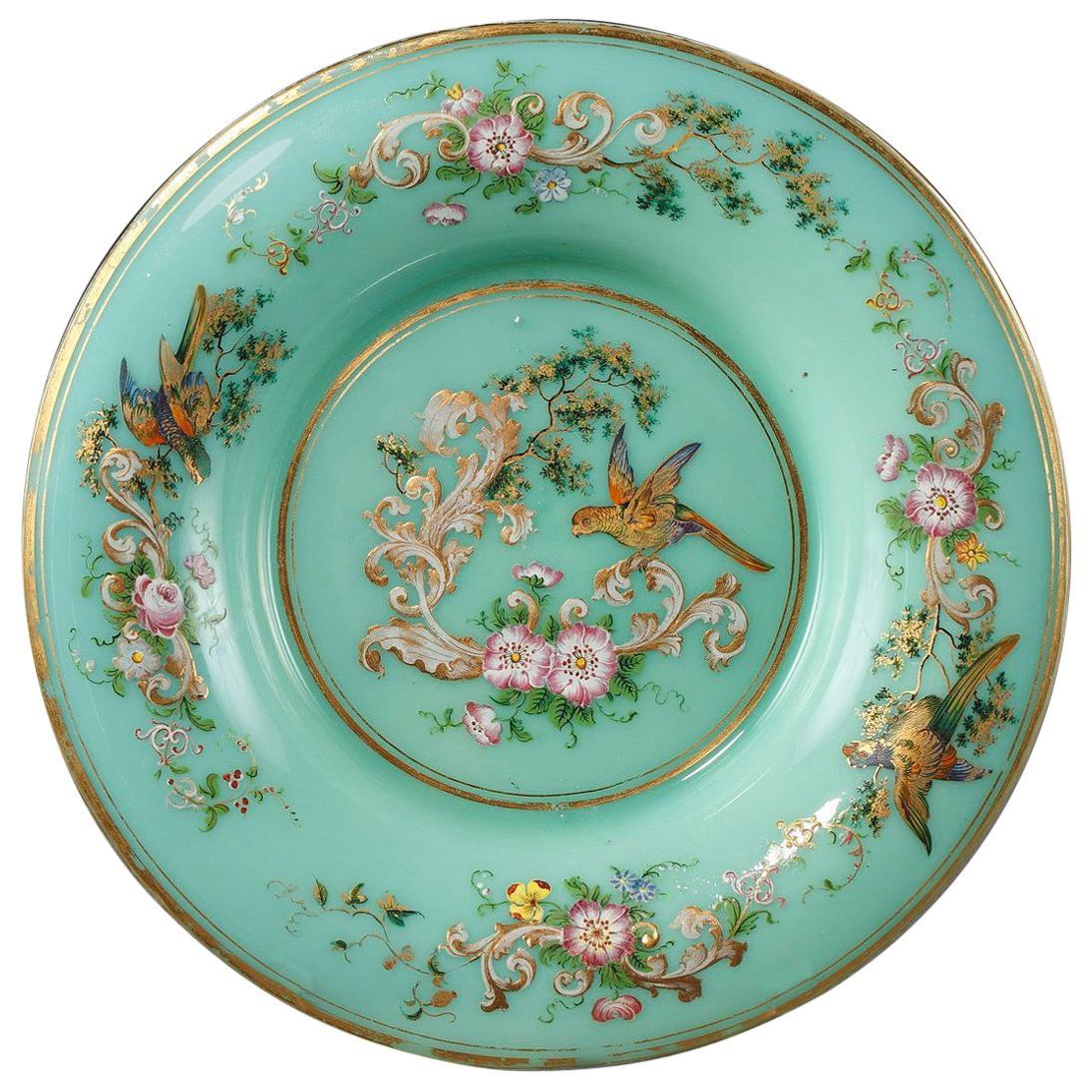 Six Opaline Plates in the Taste of Jean-françois Robert
