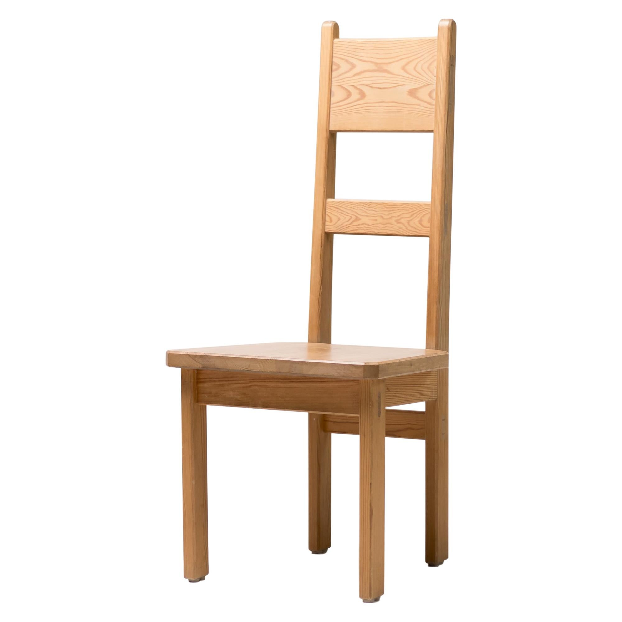 Six Oregon Pine High Back Chairs by Roland Wilhelmsson
