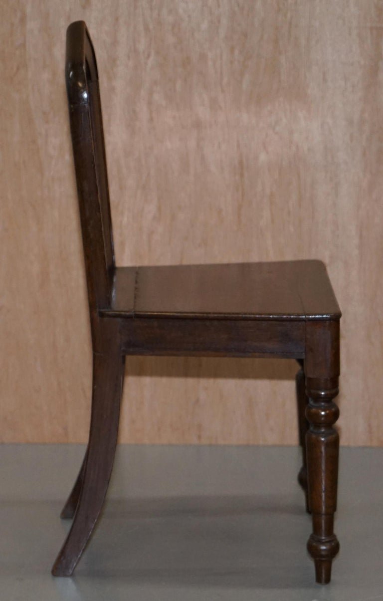Six Original Victorian circa 1890 Steeple Back Gothic Arch Oak Dining Chairs 6 For Sale 9