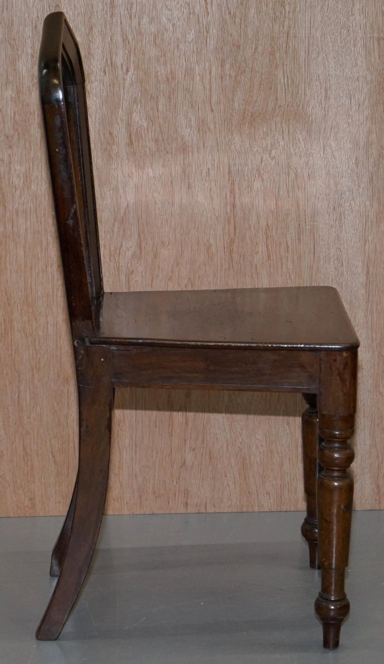Six Original Victorian circa 1890 Steeple Back Gothic Arch Oak Dining Chairs 6 For Sale 1