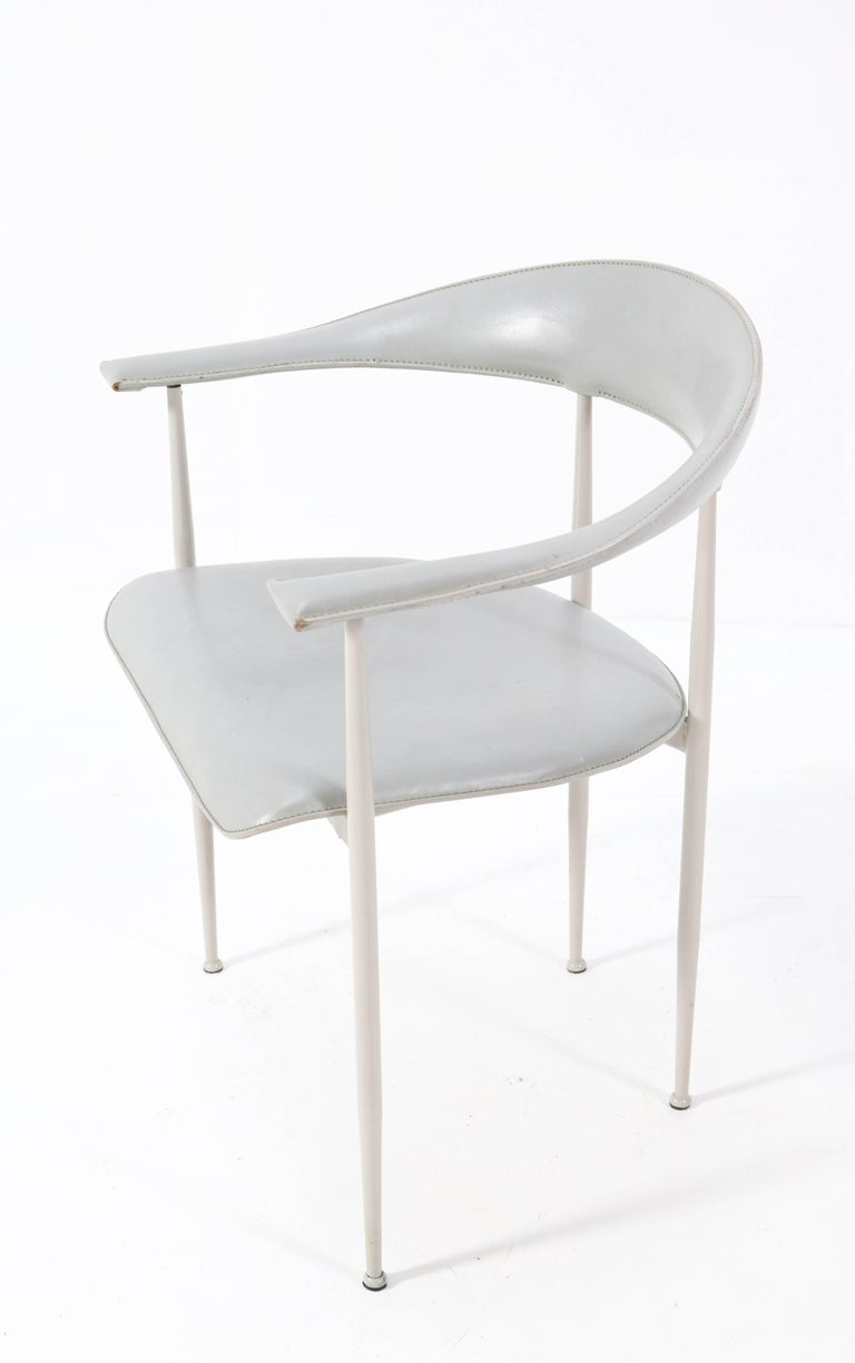 Six P40 Armchairs by Giancarlo Vegni and Gualtierotti for Fasem, Italy, 1980s For Sale 3
