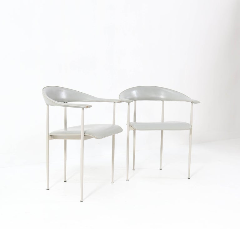 Six P40 Armchairs by Giancarlo Vegni and Gualtierotti for Fasem, Italy, 1980s In Good Condition For Sale In Amsterdam, NL