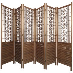 Six Panel Teak Screen